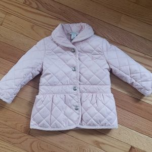 Soft Pink Quilted Barn Coat